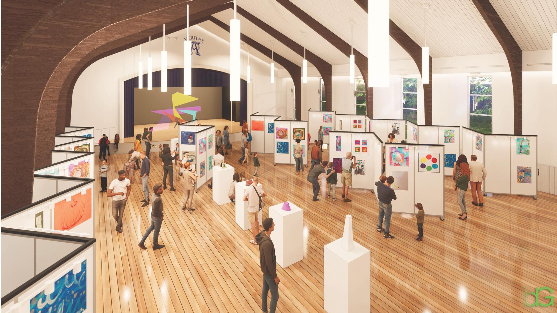 rendering - art gallery