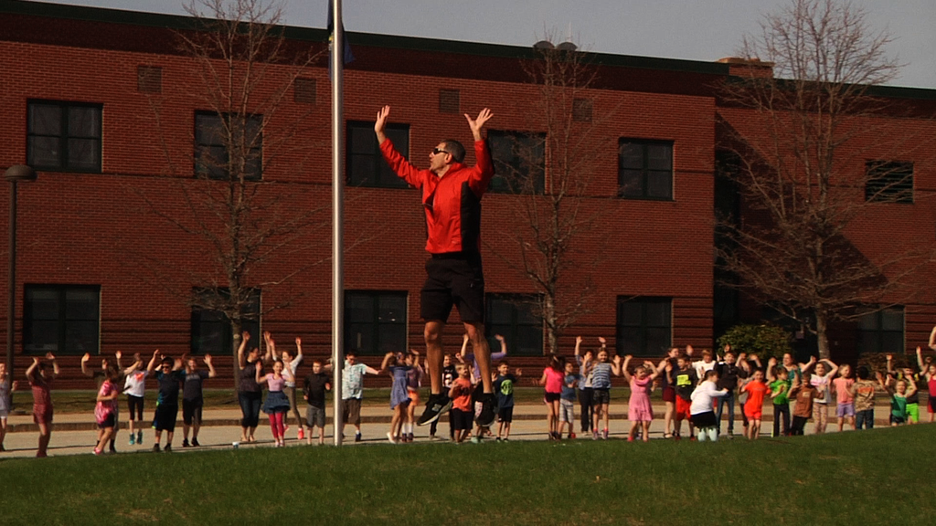 RES Students participate in ACES fitness activity