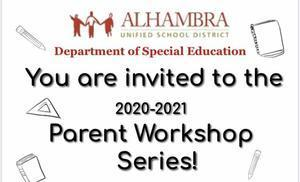 REMINDER: Special Education Department's Parent Workshop Series Continues Featured Photo
