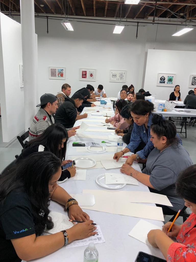 LA CAUSA students work with Self Help Graphics