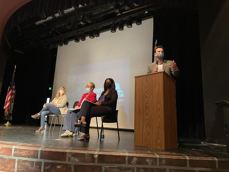 Elected Officials speak to students at Valencia High School