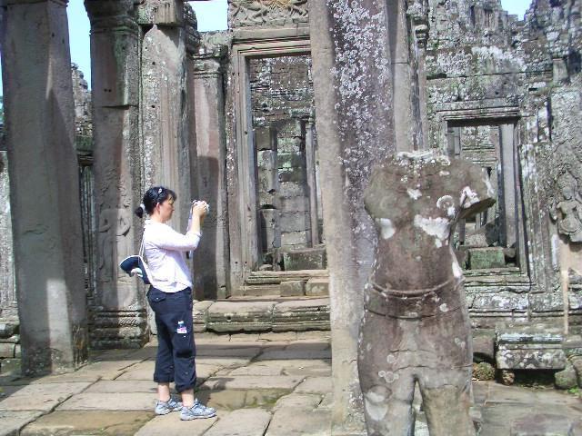 Image of Dr Lovin taking a photo at Angkor Wat
