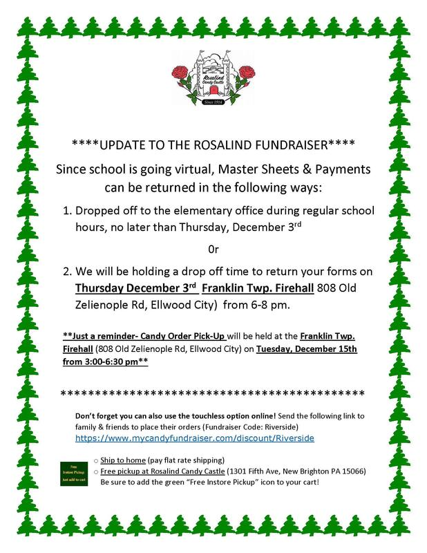 Elementary Rosalind Candy Sale Drop Off Update Featured Photo