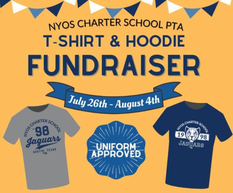 PTA graphic of two NYOS tshirts