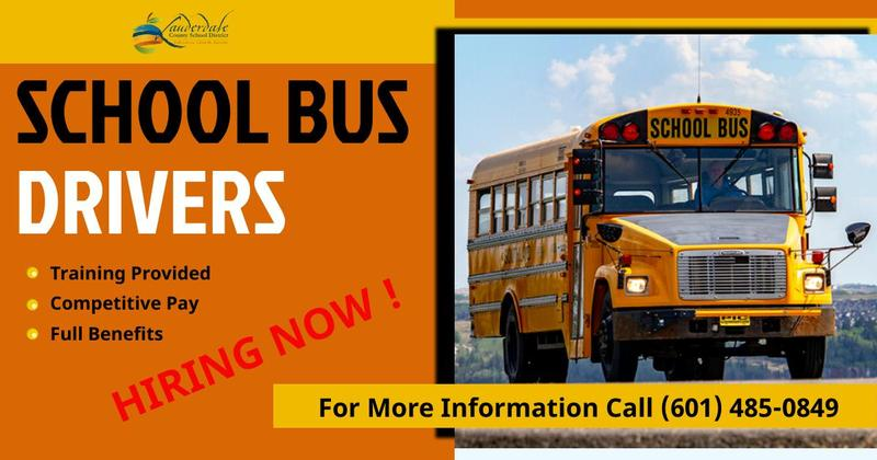 School Bus Drivers Needed Graphic