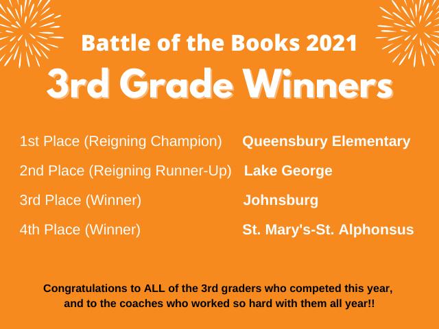 BOTB 3rd grade winners