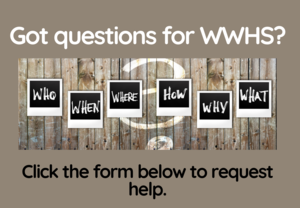 Form to submit questions to WWHS