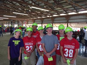 Students participating in Construction Day.