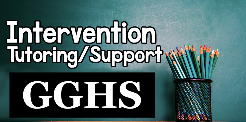 2021-2022 GGHS Tutoring/Intervention Opportunities Featured Photo