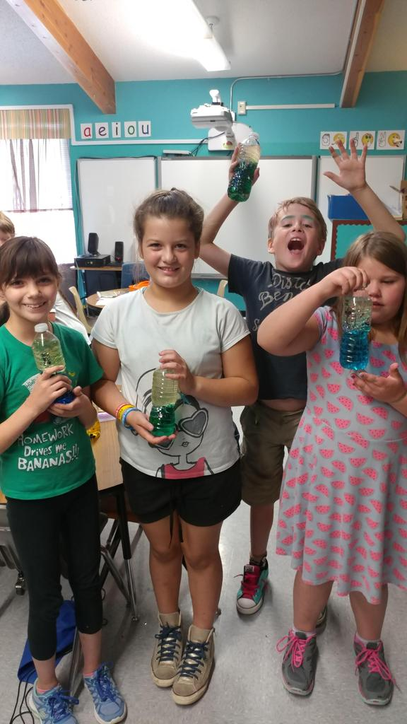 Members of Camp Good Sam excited to show off their new projects