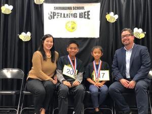 Spelling Bee Winners, Amelia and Rey