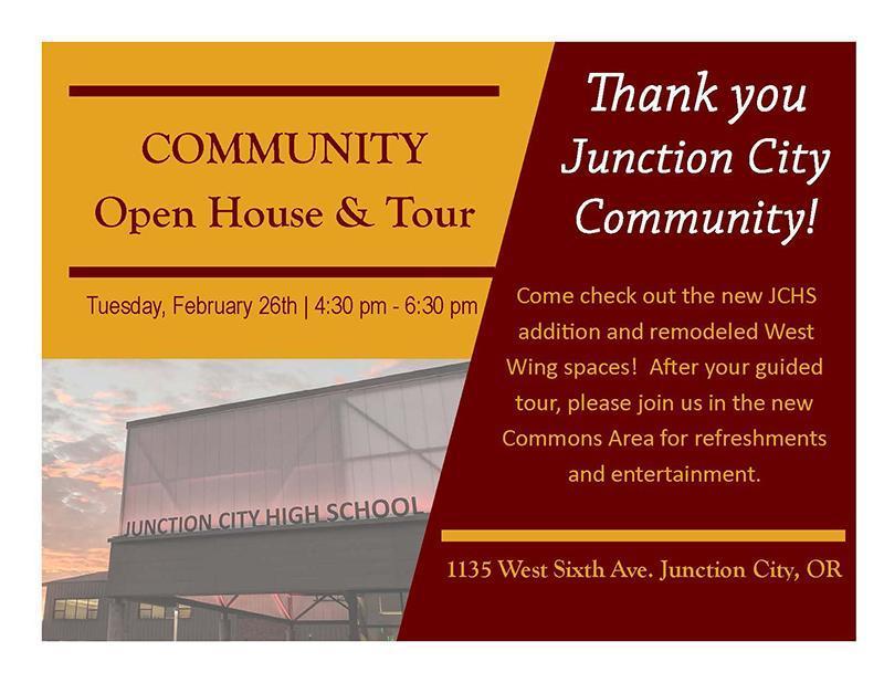JCHS Open House & Tour Invitation