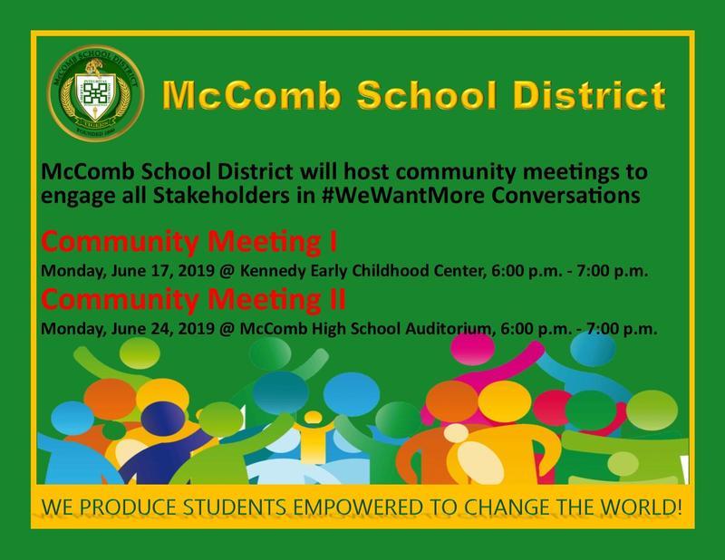 McComb School District Community Meetings I & II