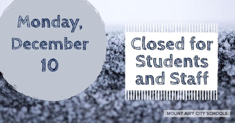 Closed Monday December 10