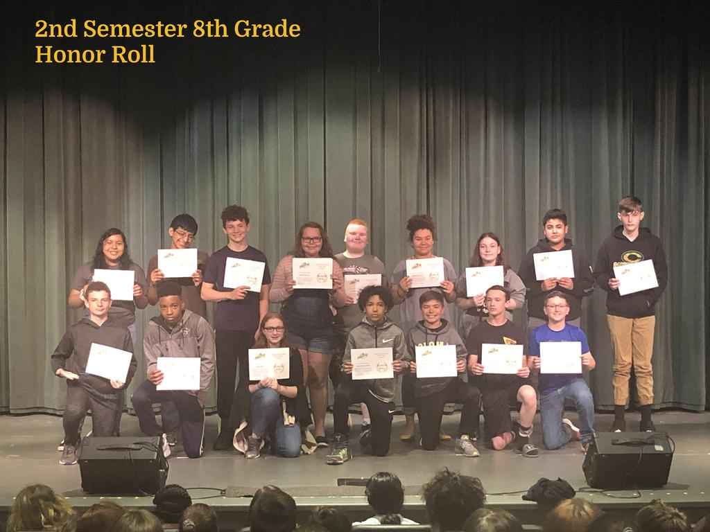 S2 8th Grade Honor Roll