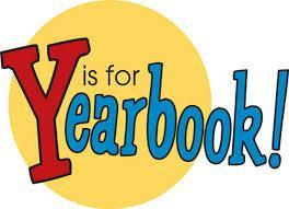 Large red Y in a yellow circle with rest of word yearbook
