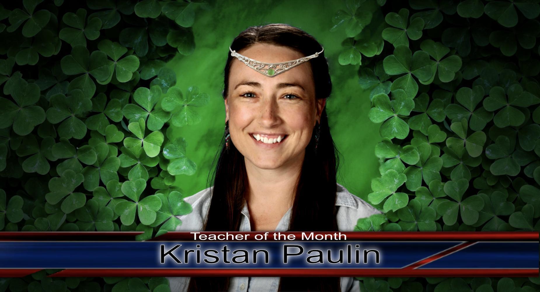 Teacher of the Month - Paulin