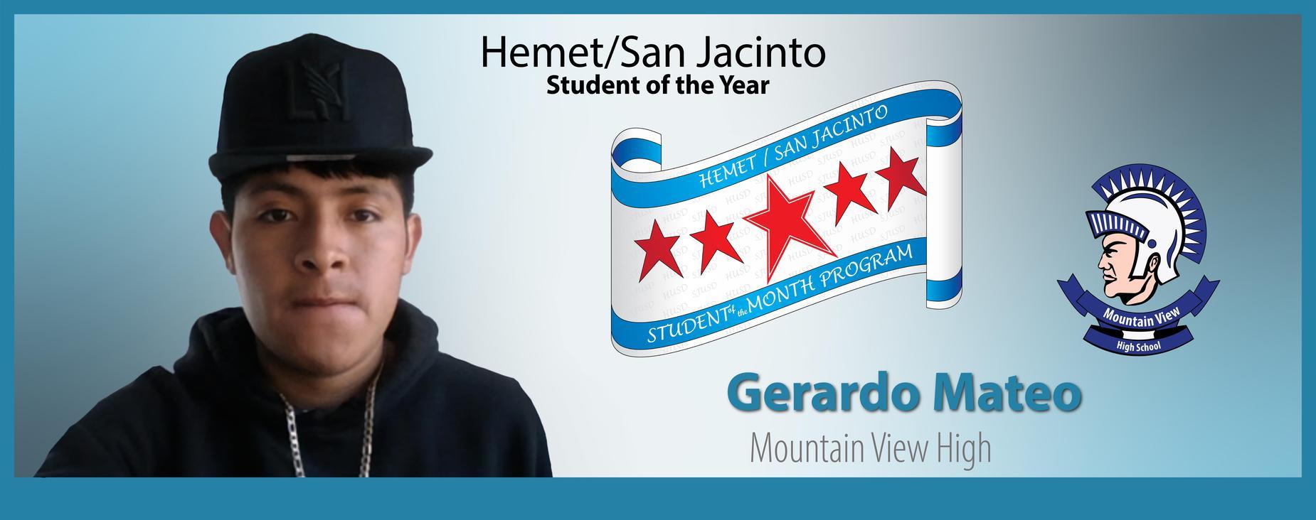Gerardo Mateo Student of the Year