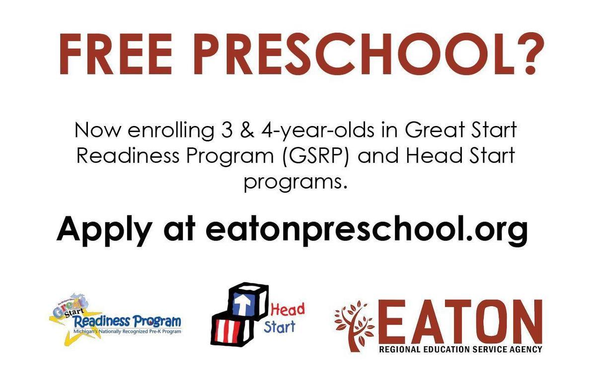 Free Preschool apply at eatonpreschool.org