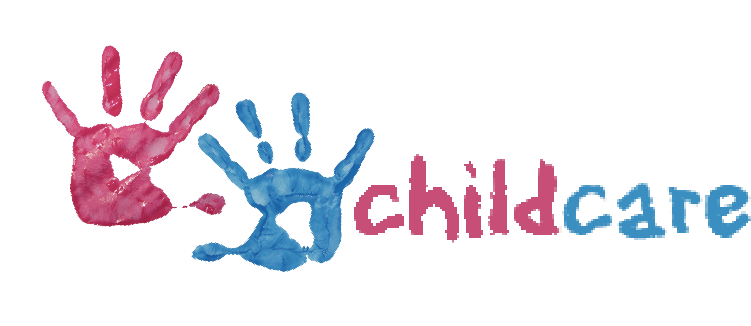 Childcare with two painted handprints