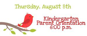 kindergarten parent orientation