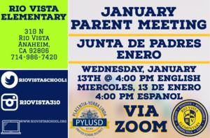 Parent Zoom Meeting