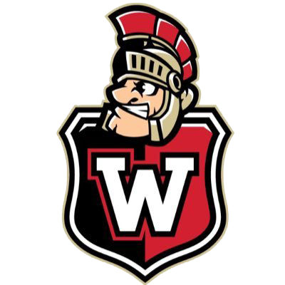 Westmont logo with Wally head and W shield