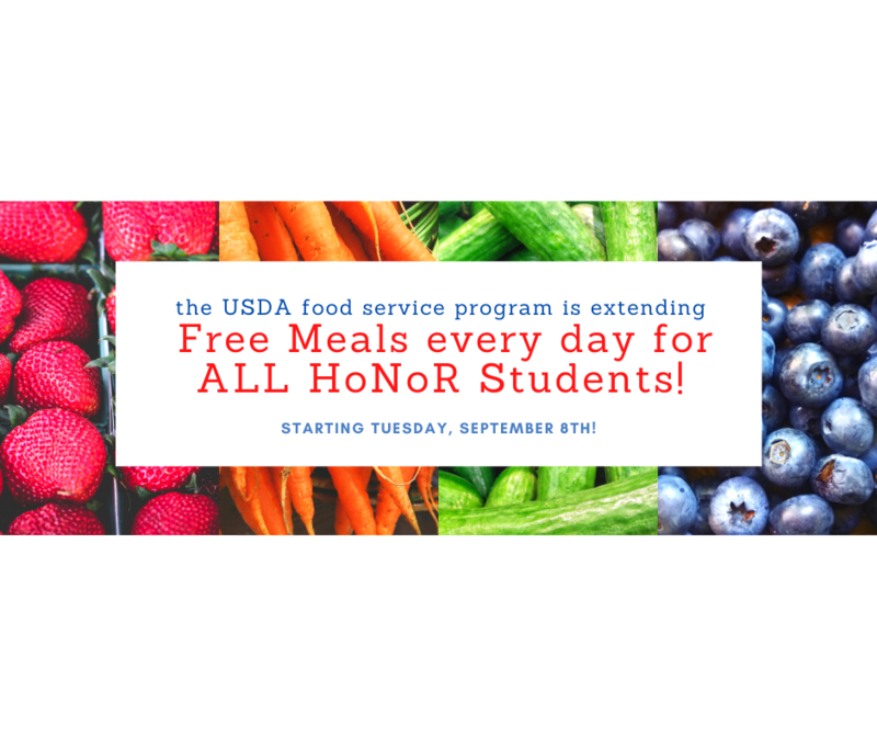 FREE MEALS to ALL HNR Students! Featured Photo