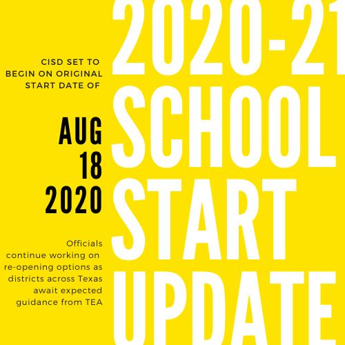 2020-21 School Year Update: CISD set to begin on original school start date of August 18 Featured Photo