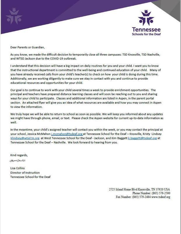 DOI Letter