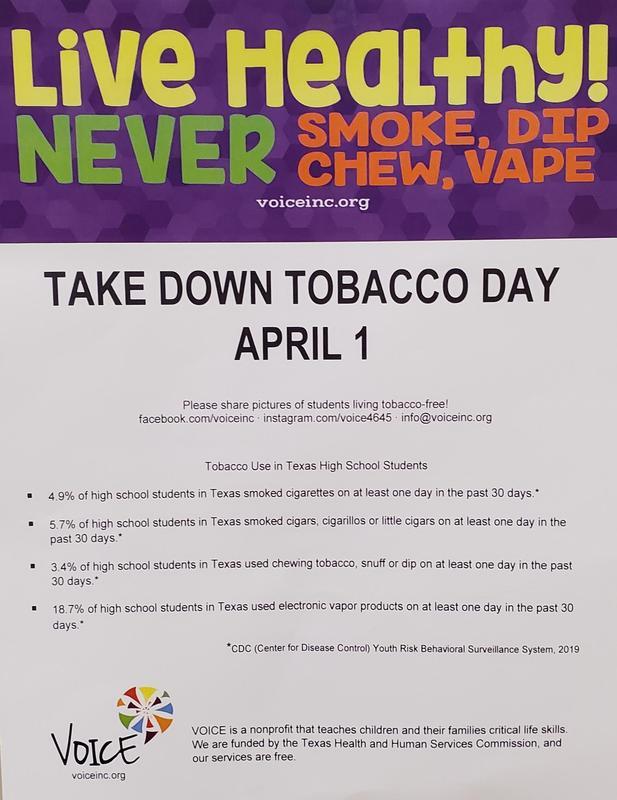 Take Down Tobacco Day April 1