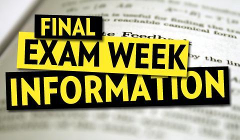 Finals Week Schedule Thumbnail Image