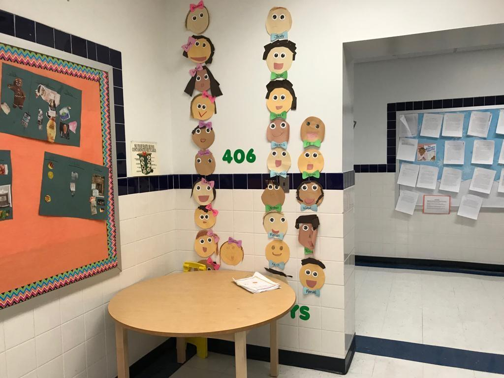 room 406 kids self art display