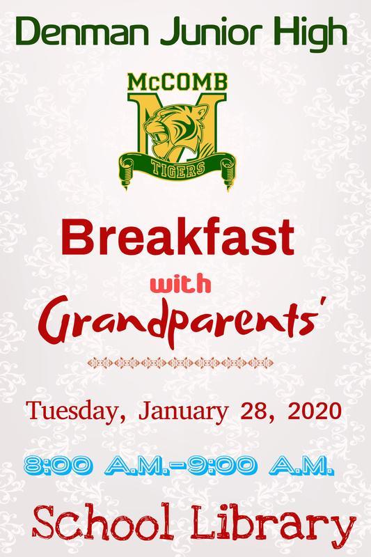 Denman Junior High School Breakfast with Grandparents 2020  #ItsComeBackTime
