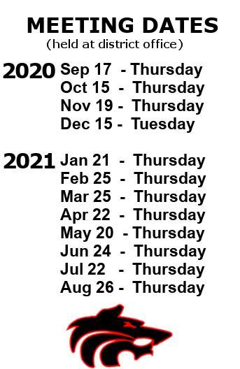 SAISD School Board Schedule