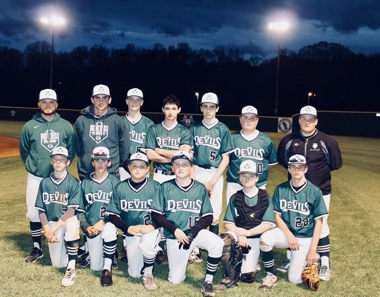 2017-2018 GMS Varsity Baseball Team