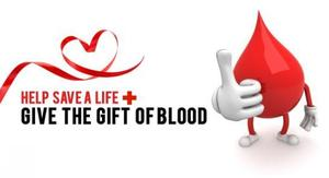 Save a Life Give Blood Logo