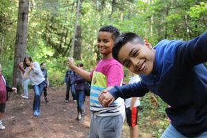 Students at outdoor school 2018