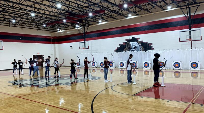 Lexington Two archers compete in the recent State Championship.