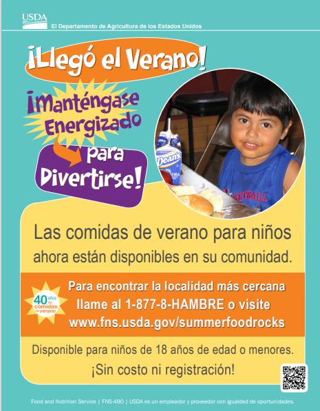 Summer Flyer Spanish