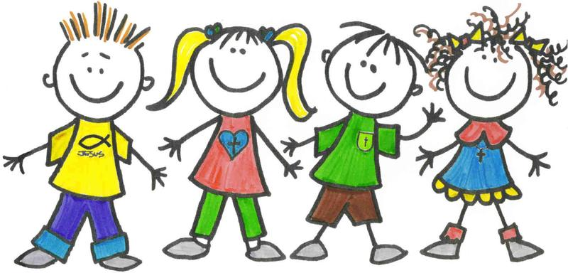 clipart image of cartoon character students