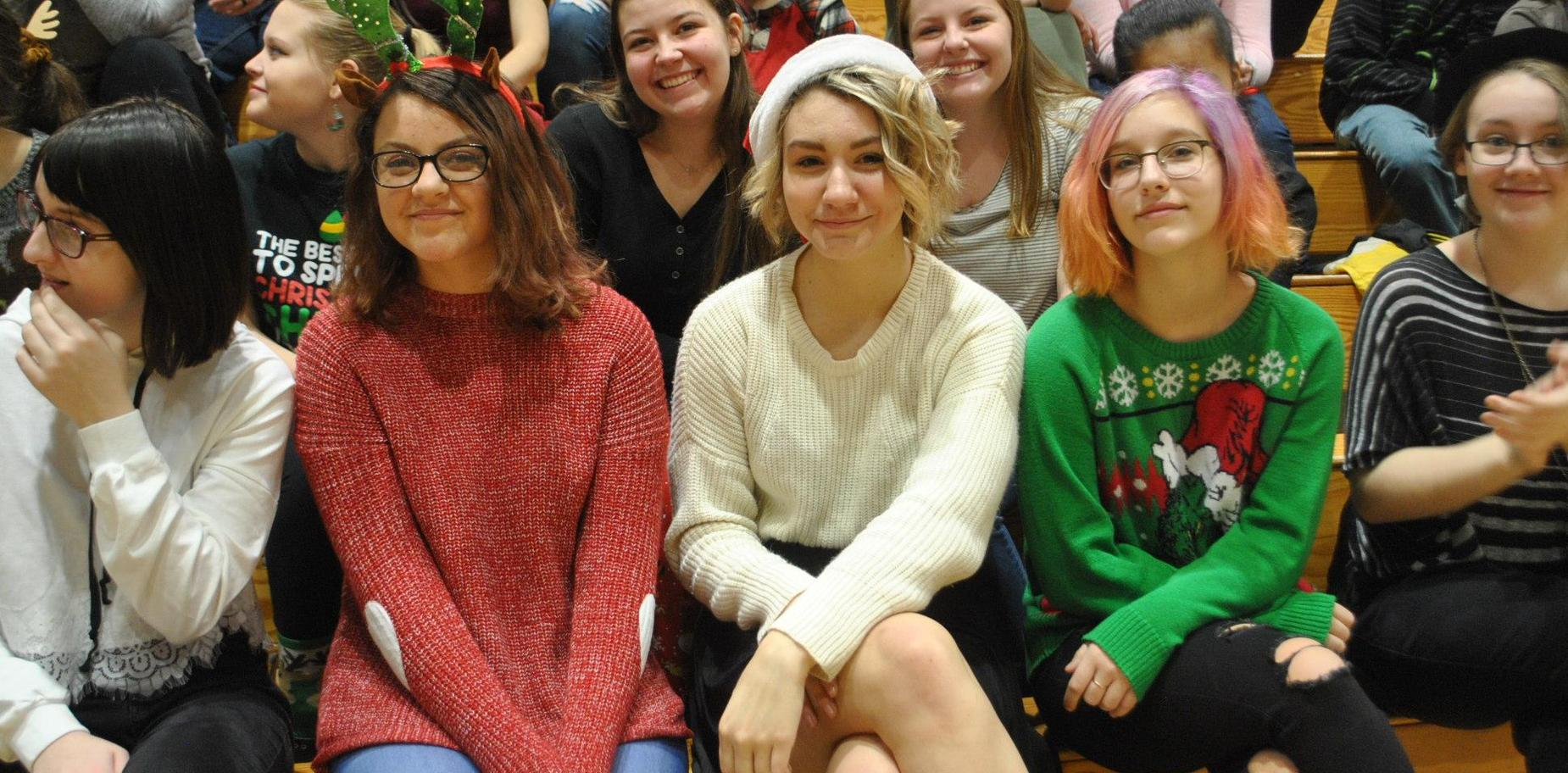KHS Students in holiday garb
