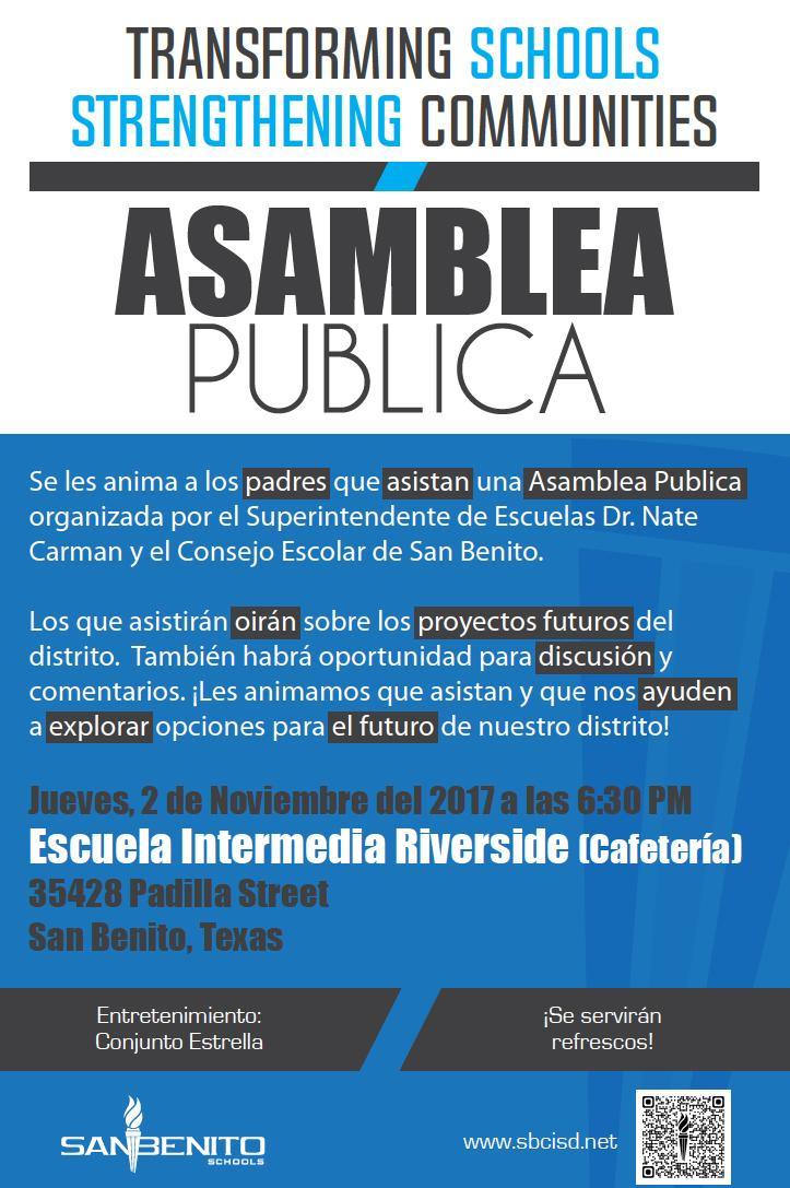 Town Hall Meeting Flyer - Spanish