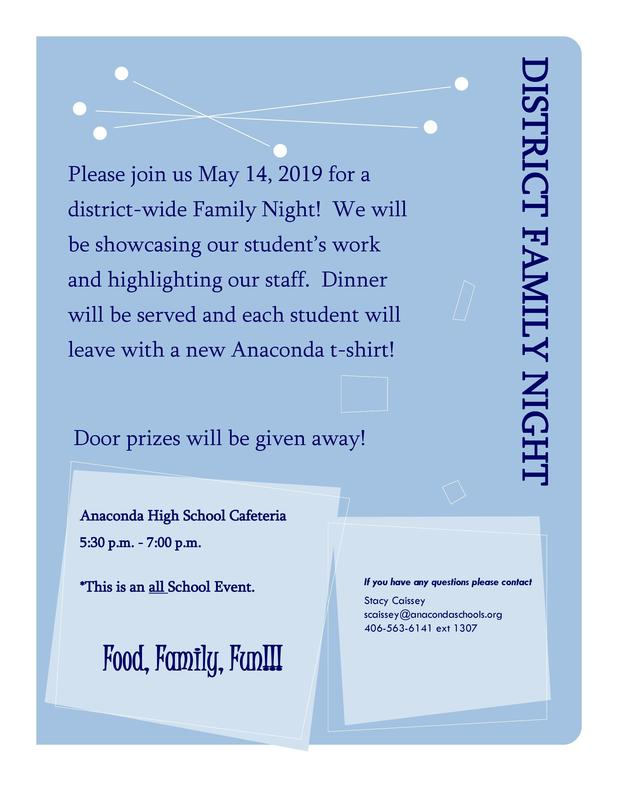 District Family Night Flyer