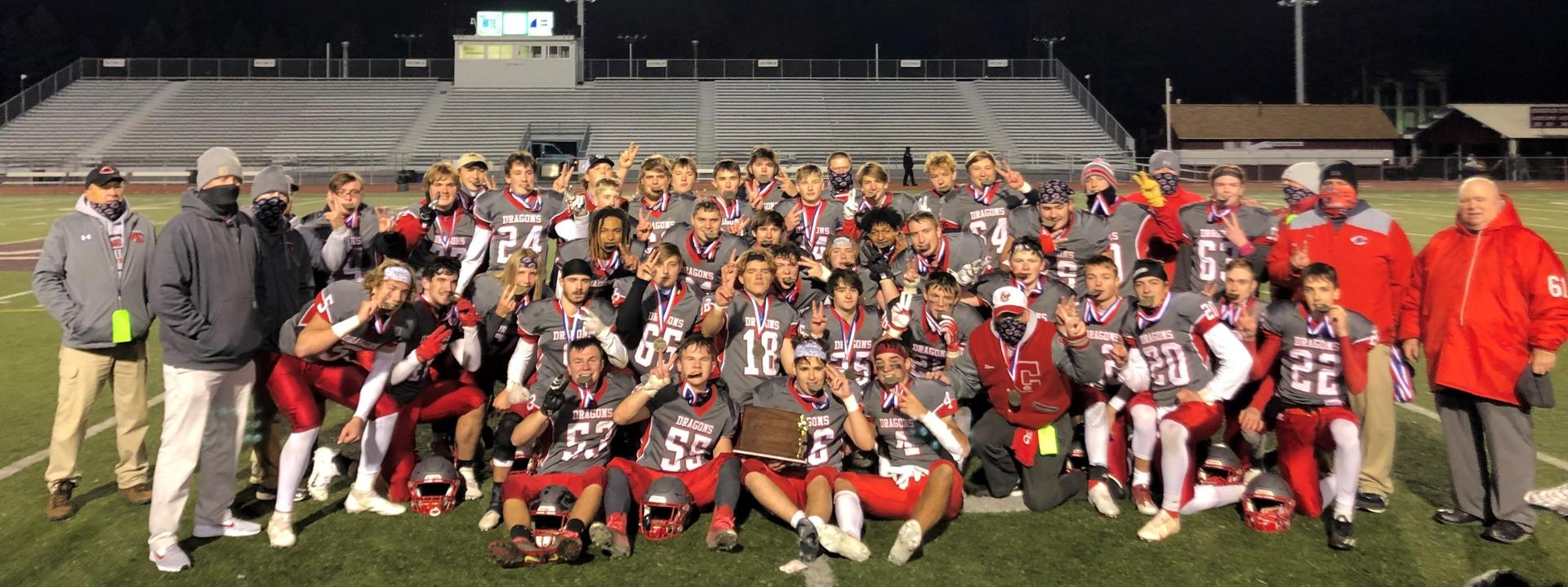 Dragons defeat Tyrone 10/31/20 17 - 14 in D6 3A football championship @ Mansion Park