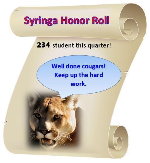 1st Quarter Honor Roll! Thumbnail Image
