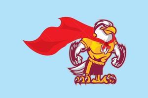 Seahawk mascot with cape: Super Hawk