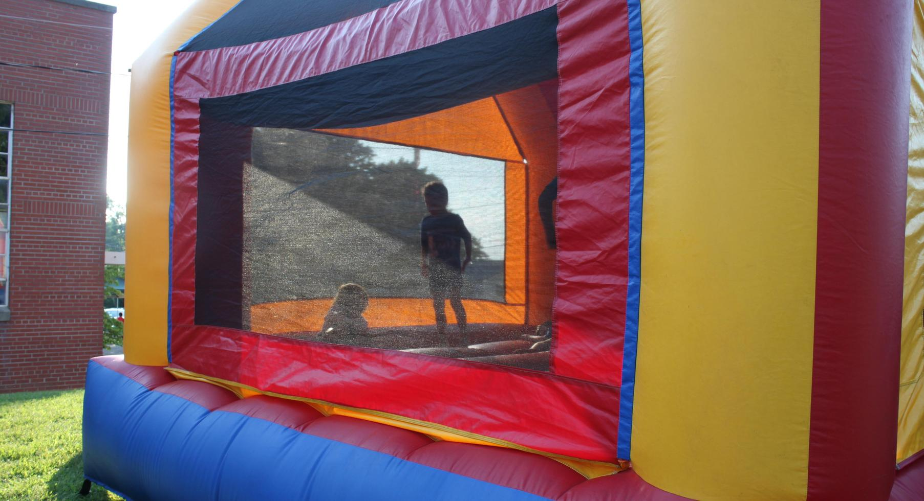 FunFestival for Education: In the bounce house.