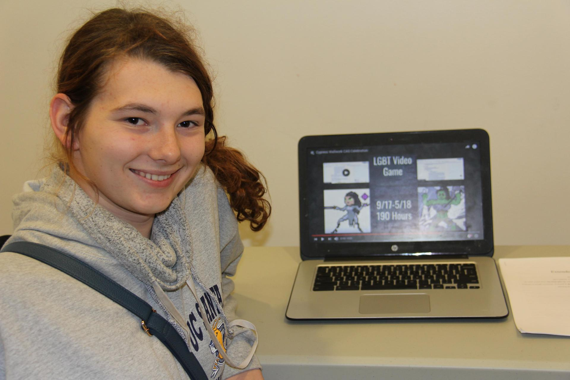 Image of IB Student - Cypress - showcasing her Creativity, Activity & Service experiences