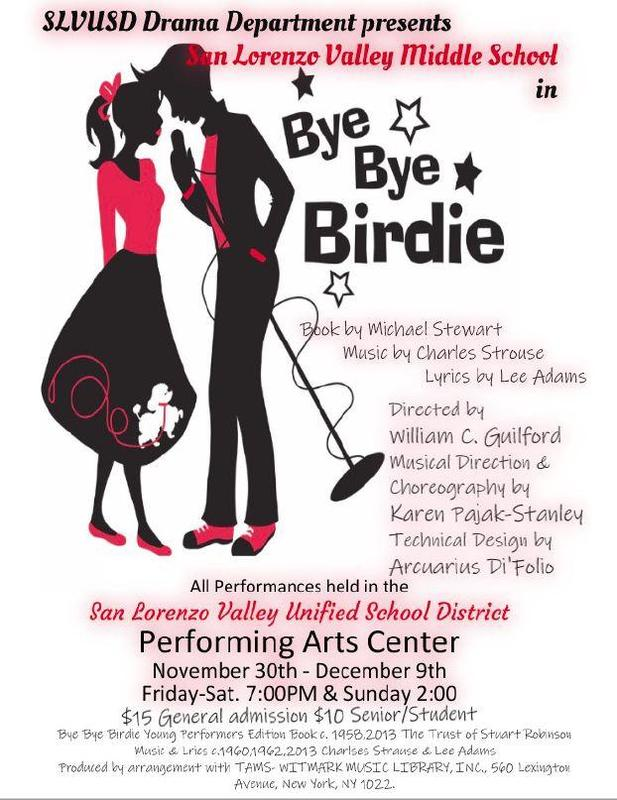 Poster for SLVMS Production of Bye Bye Birdie